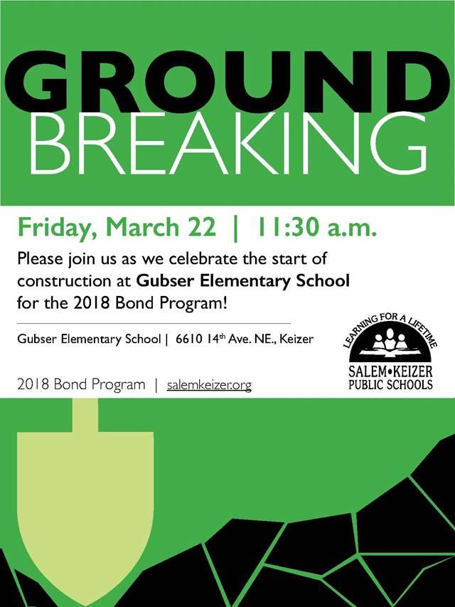 Gubser Elementary Groundbreaker 2019