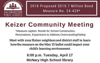Keizer Community Meeting announcement
