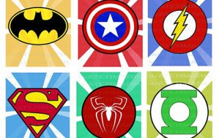 Superhero shields