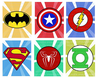 Superhero shields