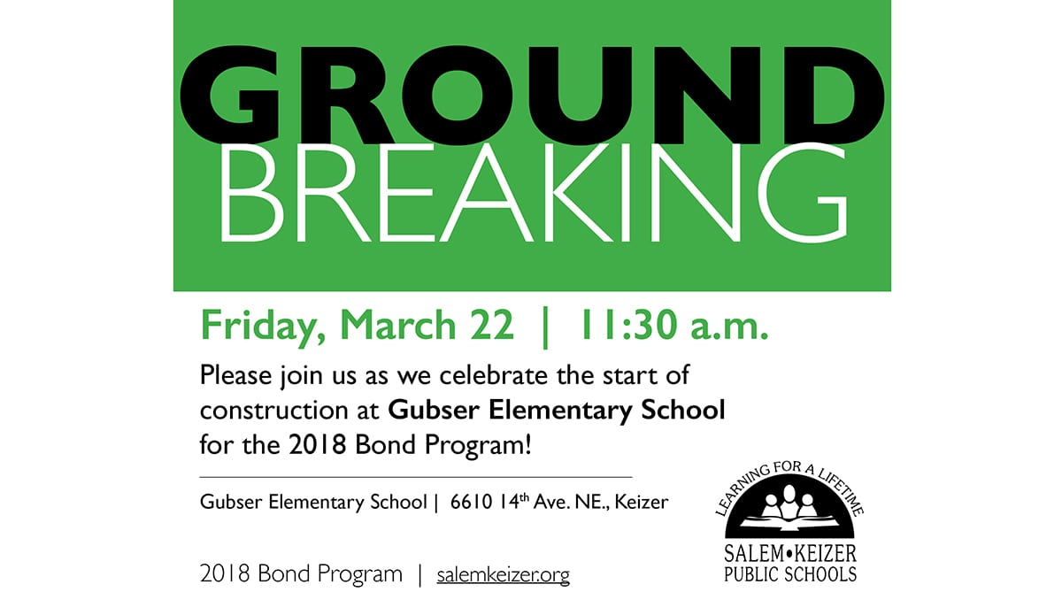 You're Invited to the Gubser Elementary Groundbreaking Ceremony! RSVP Requested